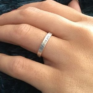 Tiffany & Co. Sterling Silver 'I Love You' Ring